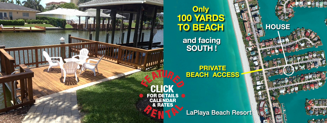 BEACH HOUSE RENTAL IN NAPLES FLORIDA WITH BOAT DOCK